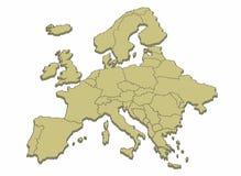Karte von Europa Stockbilder
