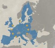 Karte von Europa Lizenzfreies Stockfoto