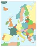 Karte von Europa Lizenzfreie Stockbilder