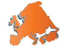 Karte von Europa Stockfoto
