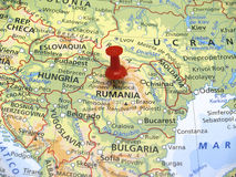 Karte von Europa Stockbild