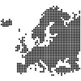 Karte von Europa Lizenzfreie Stockfotos