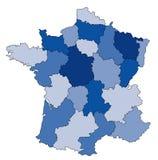 Karte von Frankreich lizenzfreie abbildung