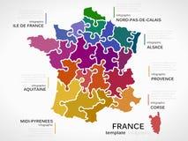 Karte von Frankreich Stockfotos