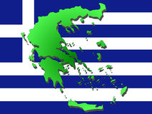 Karte von Griechenland lizenzfreie abbildung