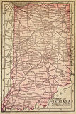 Karte von Indiana Lizenzfreies Stockfoto