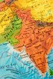 Karte von Indien Stockfotos