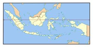 Karte von Indonesien Lizenzfreie Stockbilder