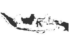 Karte von Indonesien Lizenzfreies Stockfoto