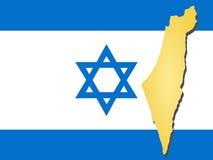Karte von Israel lizenzfreie abbildung