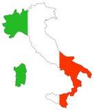 Karte von Italien Stockfoto