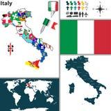 Karte von Italien Stockfotografie