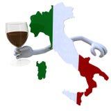 Karte von Italien-Beifall lizenzfreie abbildung