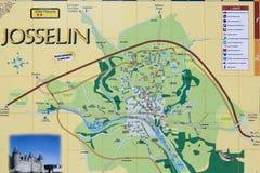 Karte von Josselin, Frankreich lizenzfreies stockfoto