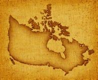 Karte von Kanada Lizenzfreies Stockfoto