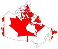 Karte von Kanada Stockbild