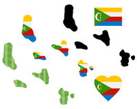 Karte von Komoren Stockbilder