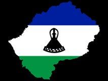 Karte von Lesotho Lizenzfreie Stockfotografie