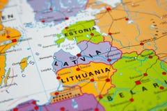 Karte von Lettland stockbilder