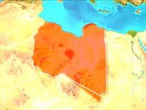 Karte von Libyen Lizenzfreie Stockfotos