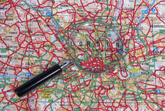 Karte von London lizenzfreies stockfoto