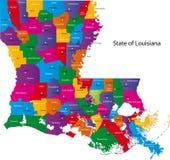 Karte von Louisiana stock abbildung