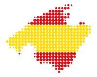 Karte von Majorca Stockfoto