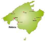 Karte von Mallorca Lizenzfreies Stockbild