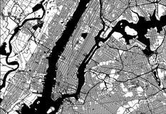 Karte von Manhattan lizenzfreie abbildung