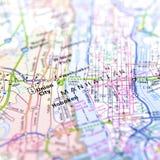 Karte von Manhattan Lizenzfreies Stockfoto