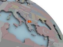 Karte von Mazedonien mit Flagge Lizenzfreie Stockfotografie