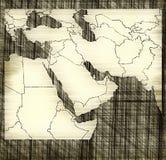 Karte von Mittlerem Osten stock abbildung