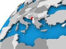 Karte von Montenegro im Rot Stockfoto
