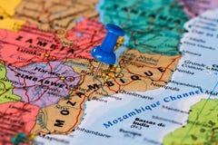 Karte von Mosambik Lizenzfreie Stockbilder