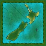 Karte von Neuseeland stock abbildung