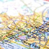 Karte von New York City Stockbilder