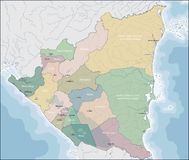 Karte von Nicaragua lizenzfreies stockbild