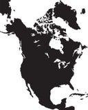 Karte von Nordamerika Stockfoto