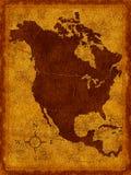 Karte von Nordamerika stock abbildung