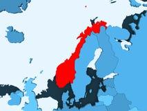 Karte von Norwegen lizenzfreie abbildung