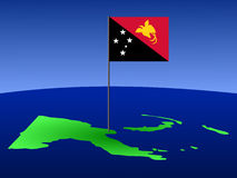 Karte von Papua-Neu-Guinea Stockbilder