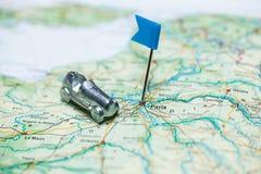 Karte von Paris Lizenzfreie Stockfotos