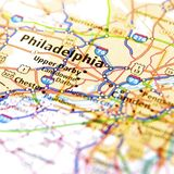 Karte von Philadelphia Lizenzfreie Stockfotografie