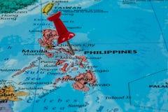Karte von Philippinen lizenzfreie stockbilder