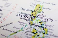 Karte von Philippinen lizenzfreie stockfotos