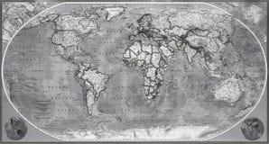 Karte von Planetenerde stockfotos