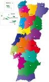 Karte von Portugal Stockfoto