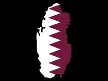 Karte von Qatar vektor abbildung