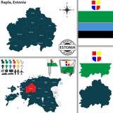 Karte von Rapla, Estland Stockfotografie