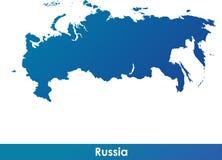 Karte von Russland Stockfoto